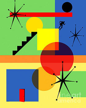 Mid Century Modern Abstract Over The Edge 20190106 by Wingsdomain Art and Photography
