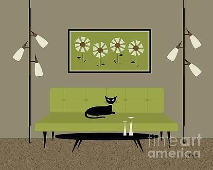 Mid Century Modern Daisies by Donna Mibus