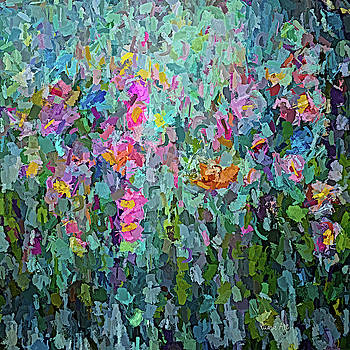 Mid July Meadow Flowers - #2 Painting  by OLena Art - Lena Owens