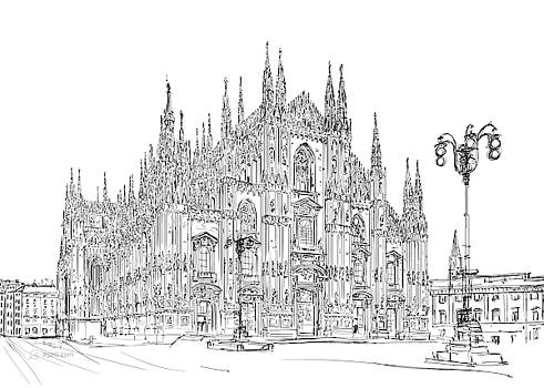 Andrea Gatti - Milan Cathedral drawing