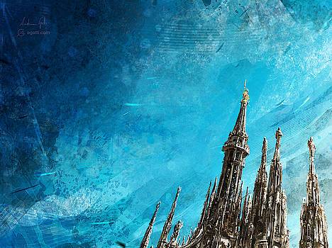 Milan Cathedral Spires bright by Andrea Gatti