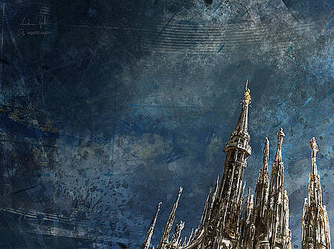 Milan Cathedral Spires dark by Andrea Gatti