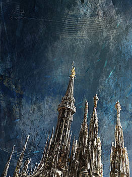 Milan Cathedral vertical dark by Andrea Gatti