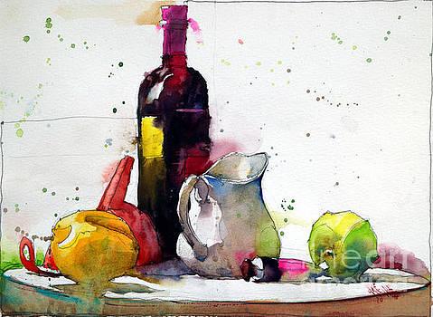 Milk jug and orange tube by Andre MEHU