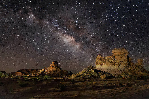 Milky Way and Hoodoos by Harriet Feagin