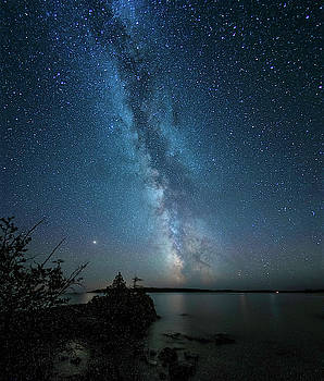 Milky Way as seem from Isle Royale National Park by Nick Noble