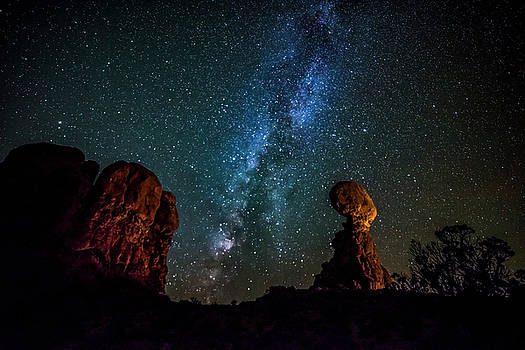 Milky Way over Balanced Rock by David Morefield