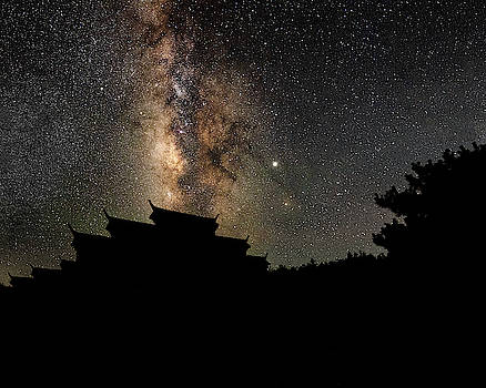 Milky Way over the Dark Temple by William Dickman