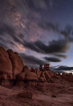 Milky Way rises over Goblins by Marybeth Kiczenski