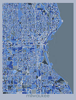 Milwaukee Map Retro 5 by Bekim M