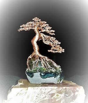 Mini wire tree in copper #190 By Rick Skursky by Ricks Tree Art