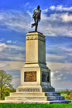 Minnesota at Gettysburg - Monument to the 1st Infantry Regiment Volunteers - 2nd Corps by Michael Mazaika