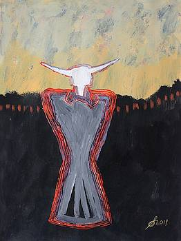 Minotaur original painting by Sol Luckman