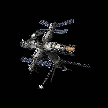 MIR Space Station by Nick Stevens