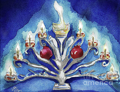 Miracles Hanukkah Menorah by D Renee Wilson