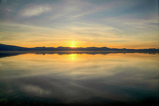 Mirrored Sunset 01025 by Kristina Rinell