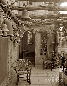 California Views Archives Mr Pat Hathaway Archives - Mission Inn View Garden of Bells Riverside Circa 1912