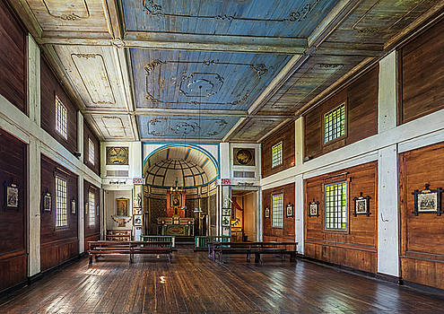 Mission of the Sacred Heart Interior by David Sams