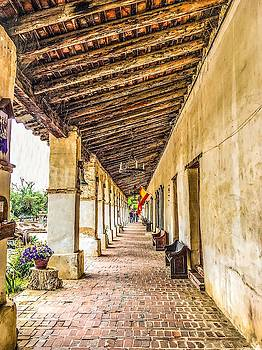 Mission San Miguel Walkway by Christina Ford
