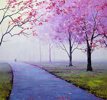 Misty Blossom Trees by Graham Gercken