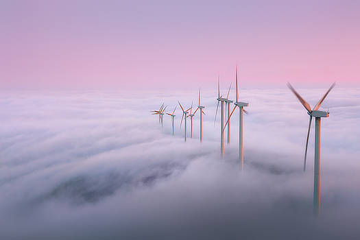 Misty evenings on Oiz Mountain by Mikel Martinez de Osaba
