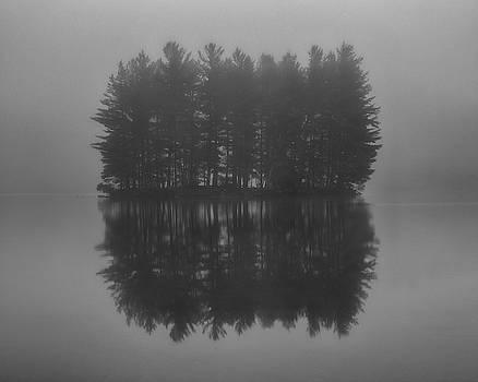 Misty Island Reflections - Blue Ridge Parkway by Mike Koenig