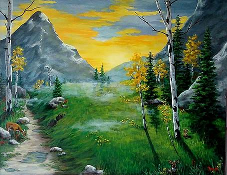 Misty Mountain Sunrise  by Danett Britt