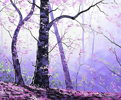 Misty pink trees Forest by Graham Gercken