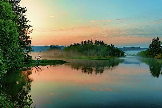 Misty Sunrise II by Dee Browning