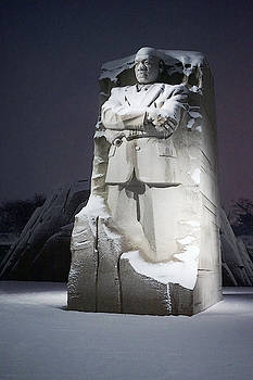 MLK in snow by David Posey