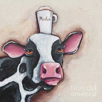 Mocha Cow by Lucia Stewart