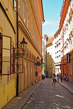 Model in Streets of Prague by Kathy Yates