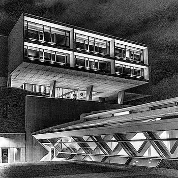 Modern Architecture Monochrome by Randy Scherkenbach