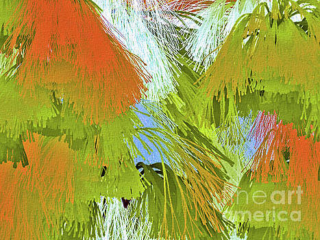 Modern Art   Tropical Flare  abstract by Elaine Manley