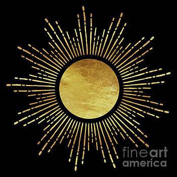 Tina Lavoie - Modern Golden Sunburst Starburst Noir