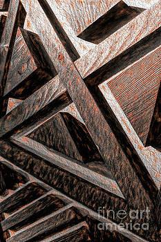 Modern Rustic Shape Art by Nikki Vig
