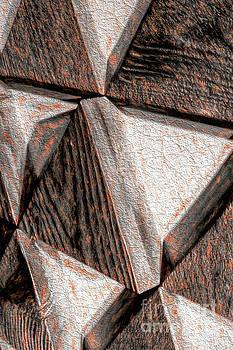 Modern Rustic Triangle Art by Nikki Vig