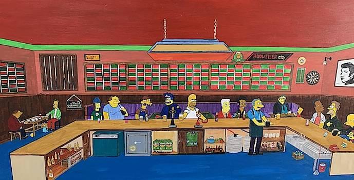 Moe's Tavern The Simpsons by Martin Dardis