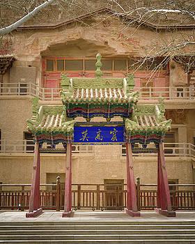 Mogao Caves Gate Dunhuang Gansu China by Adam Rainoff
