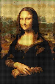 Mona Lisa Artificial Cross Stitch by Tin Tran