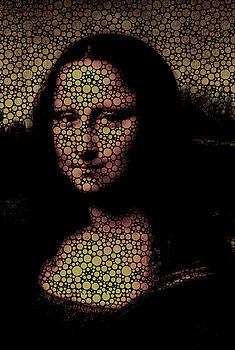 Mona Lisa Bubble Girl by Robert R Splashy Art Abstract Paintings