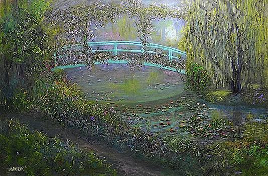 Monet Garden bridge by Michael Mrozik