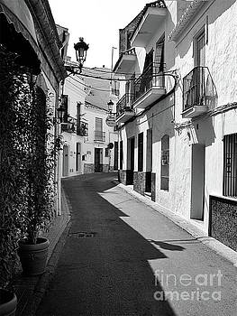Mono street scene, Nerja by John Edwards