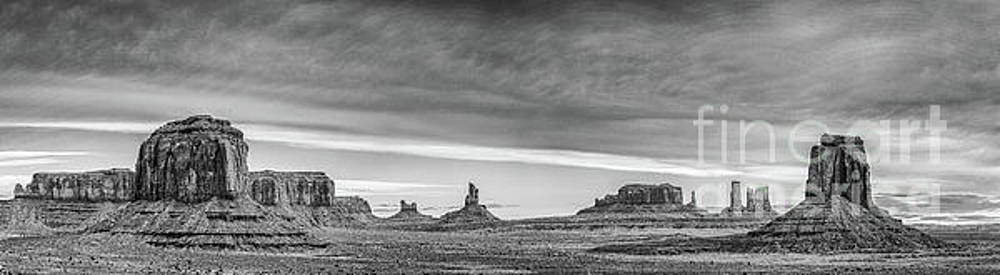 Monochrome Monument Valley by Jon Vemo