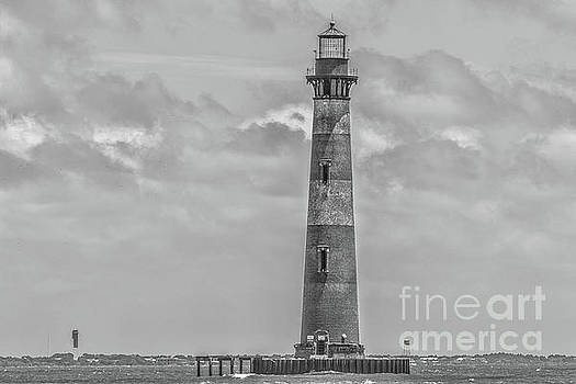 Monochrome - Morris Island Lighthouse by Dale Powell