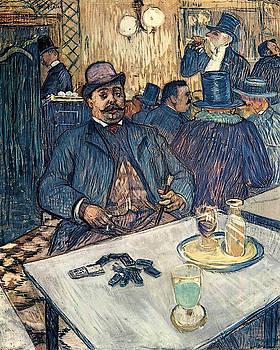 Monsieur Boleau in a Cafe - 1893 - Cleveland Museum of Art by Henri de Toulouse-Lautrec
