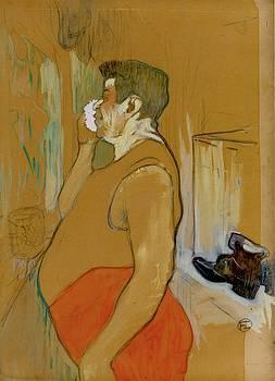 Monsieur Caudieux, Cafe Concert Actor - 1893 - PC - Painting - gouache by Henri de Toulouse-Lautrec