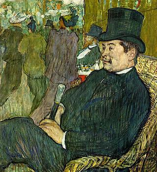 Monsieur Delaporte at the Jardin de Paris - 1893 - Ny Carlsberg Glyptotek - Copenhagen - Painting -  by Henri de Toulouse-Lautrec