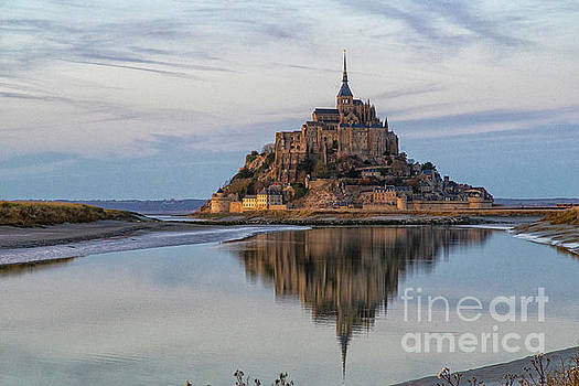 Wayne Moran - Mont Saint Michel France Evening Reflections
