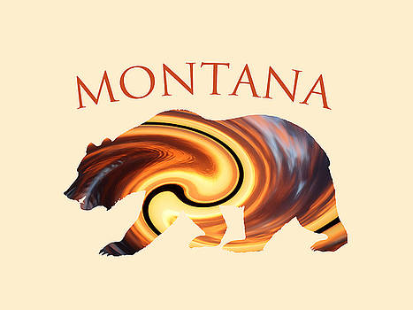 Montana Grizzly- Abstract by Whispering Peaks Photography